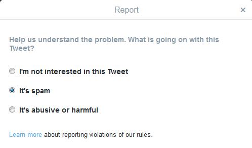 Twitter Spam Report